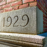 Colby-Sawyer building cornerstone dated 1929